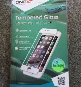 Защитное стекло для iPhone 6 Plus белое.
