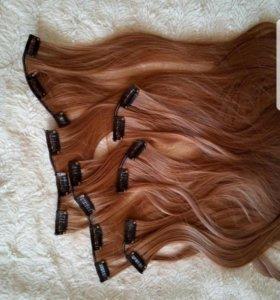Термо волосы на заколках 60см