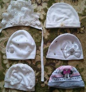шапочки на девочку 9 штук