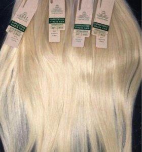 Натуральные волосы блонд