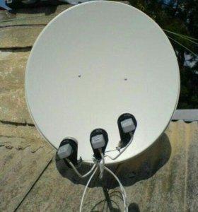 Спутниковая тарелка + ресивер