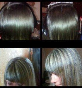 Мелирование волос и прически