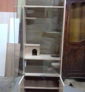 Клетка витрина для шиншилл и Дегу