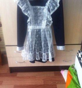 Платье школьное с фартуком