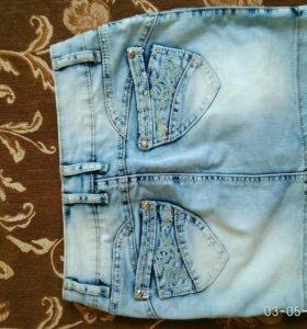 Юбки джинс 25 р