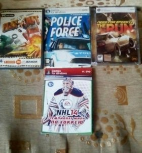 Flatout,Poloce Force,Need for speead the run,NHL14