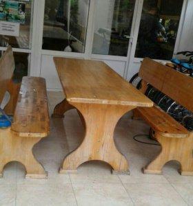 Продам деревянные столы и лавочки