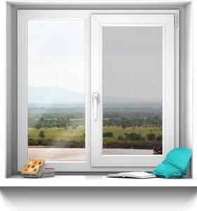 Пластиковое окно 1,2 х 1,2 м