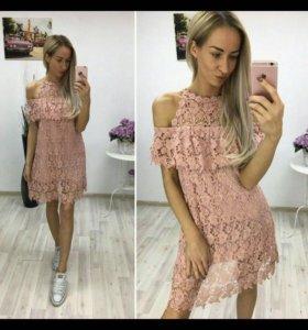 Платье гипюр новое