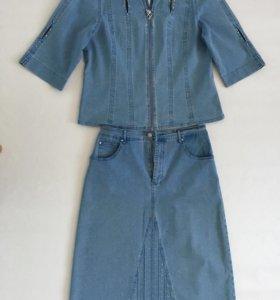 Костюм джинсовый женский