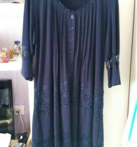 Платье темно синее, не ношенное, размер xl