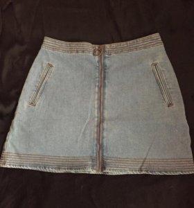 Джинсовая юбка с молнией Befree