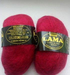 Пряжа для вязания(мохер)