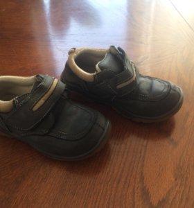 Ботинки демисезонные туфли 28 р кожаные