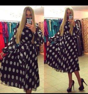 Платье новое; шифон, Турция