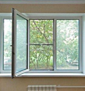Пластиковое окно 2,1 х 1,4 м