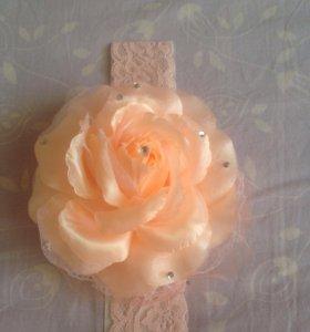 Цветок повязка на голову для девочки