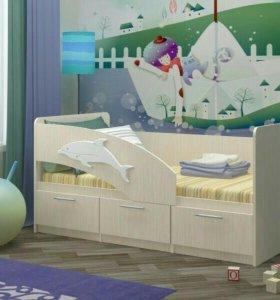 Кровать Дельфин-5 (новая)
