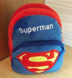НОВЫЙ Плюшевый рюкзак Superman