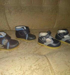 Сандалии и ботинки.