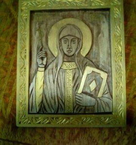 Резная икона освящённая