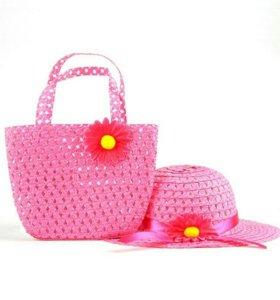 Новый комплект,шляпка и сумочка