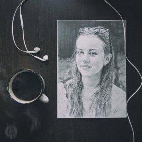 Портрет карандашом.