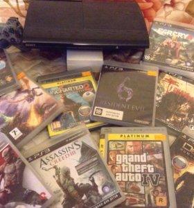 приставка PlayStation 3 - PS3 - 500Gb  с 13 играми