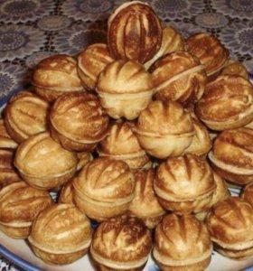Печенья орешки со сгущёнкой