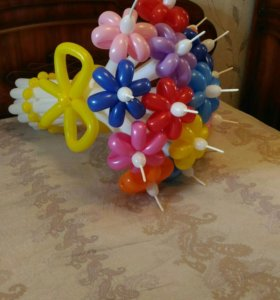 Цветы из шаров! Недорого!