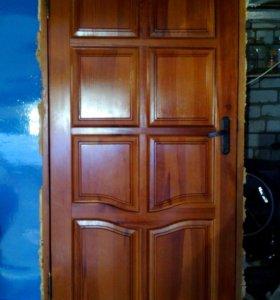 Дверь входная деревянная 200*90