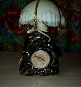 Часы-светильник