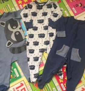 Пижамы комбинезоны слипы на мальчика