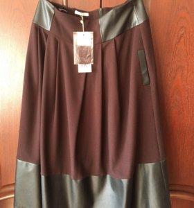 Продаю дёшево новую юбку с кожаными вставками 👍