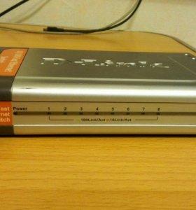 Свич D-Link dеs-1008D (коммутатор, 8 портов)