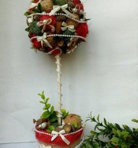 Топиарии-деревья счастья. Подарки.