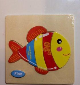 Доска пазл рыбка