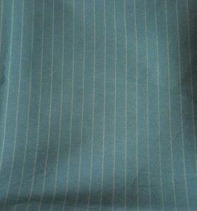 Ткань отрез костюмная зеленого цвета