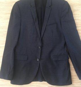 Приталенный мужской пиджак Hugo boss. Размер 46