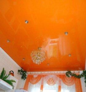 🍊Натяжные потолки оранжевые