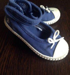Туфли-кеды для девочки