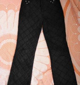 Зимние болониевые брюки на синтепоне