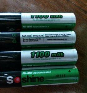 Аккумуляторы Ni MH AAA 1100 мАч
