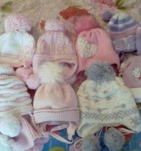 Каждая шапка по 150 руб б/у