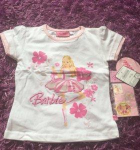 Barbie оригинал- футболка девочке рост 110!!