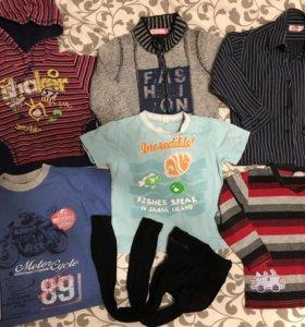 Пакет одежды на мальчика р.104-110