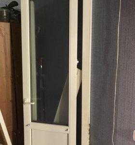 Пластиковая дверь ( балконная) б/у