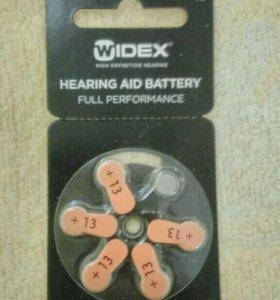 Батарейки для слухового аппарата.