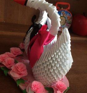 Модульное оригами - лебеди