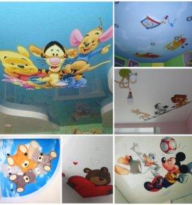 3D потолки в детскую